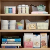Clear Plastic Storage BIns with Handles