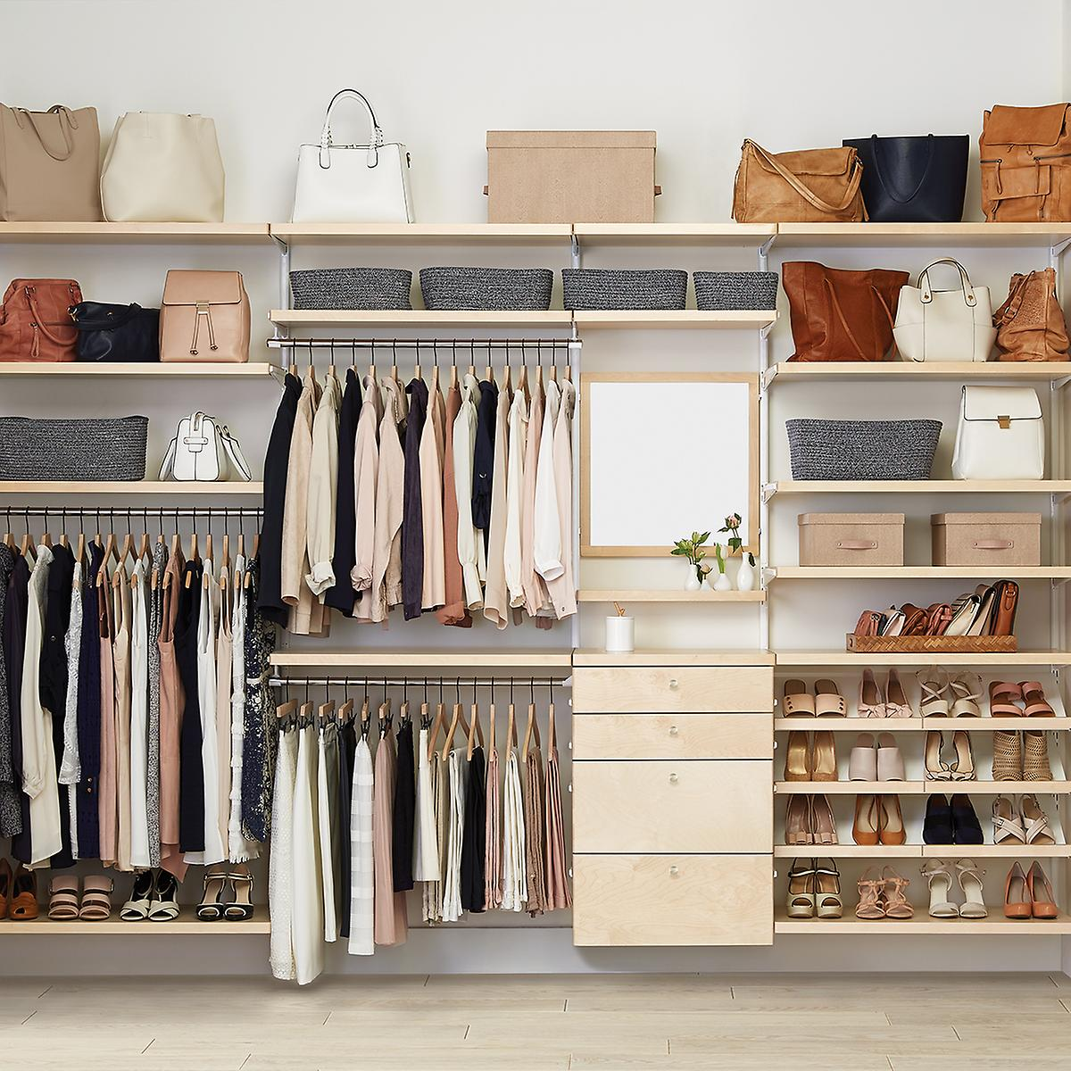Elfa Decor Reach In Closet Birch