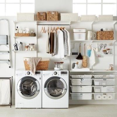 Elfa Solution Laundry White