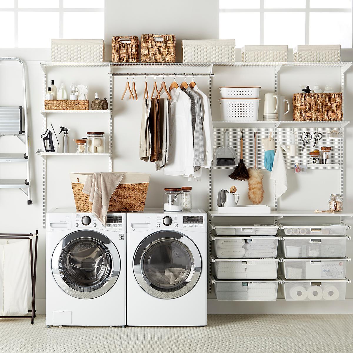 Elfa Laundry Solution White