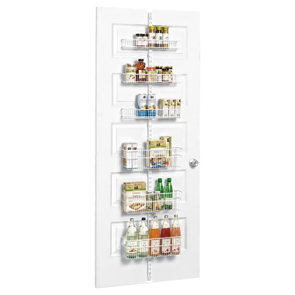 Pantry Door Storage Solutions: Elfa Solution Pantry Door And Wall Rack