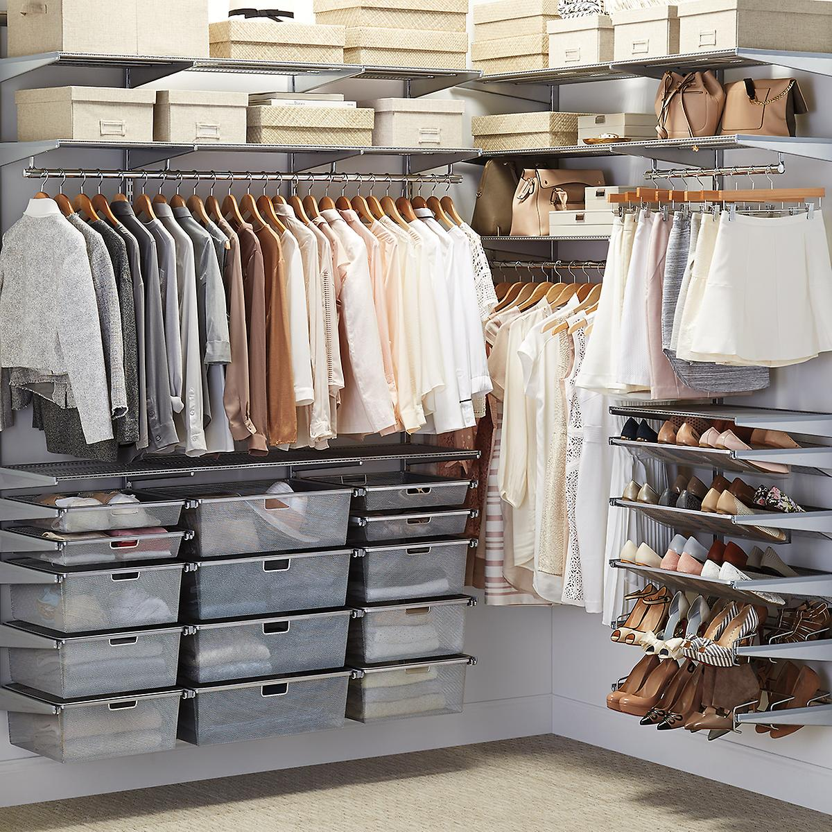 Elfa Walk In Closet Platinum