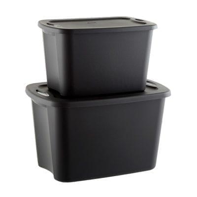 Sterilite Black Tote Boxes