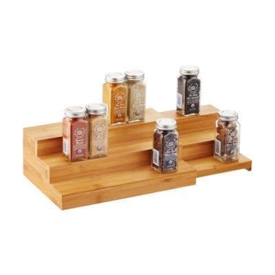 3 Tier Bamboo Expandable Tray Shelf