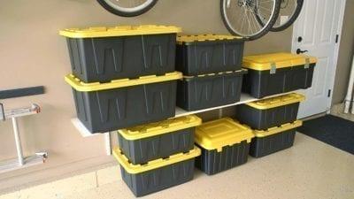 27-gallon tote, heavy duty tote, Garage Tote