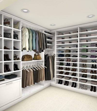 Laren Custom Closet White