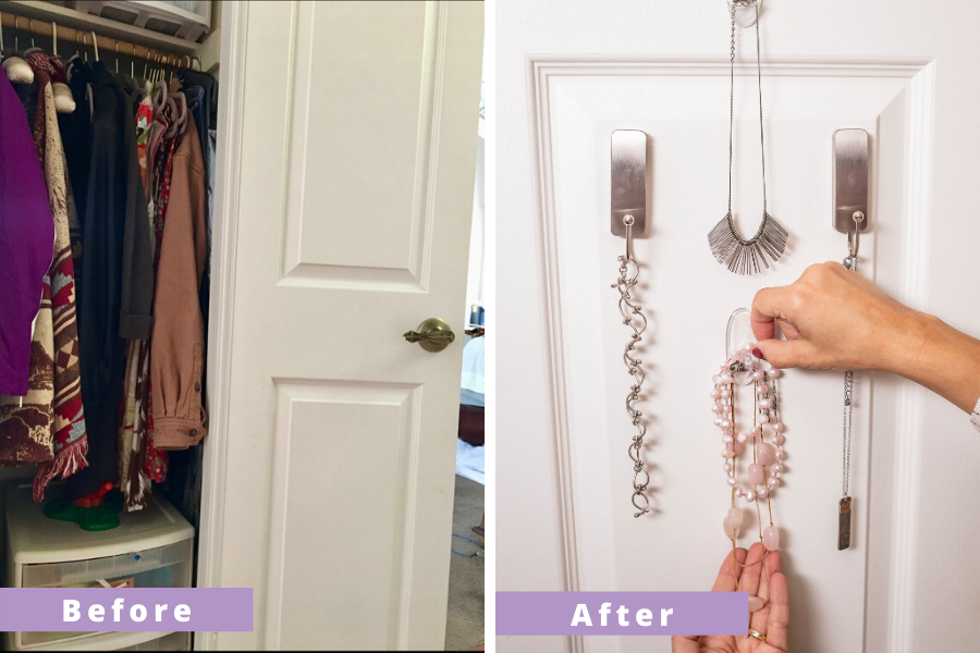 DIY Jewelry and Coat Organization - Wurth Organizing